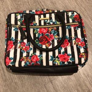 Betsy Johnson striped rose bag purse